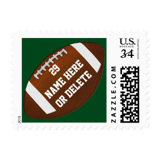 Football Postage Stamps, YOUR COLORS and TEXT