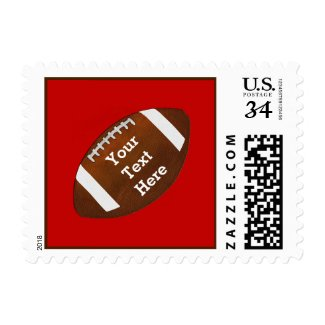 Football Postage Stamps, Your TEXT and COLORS