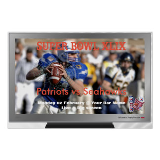 Football poster for bar and restaurant promotion