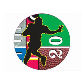 Football Power Running Design Postcard