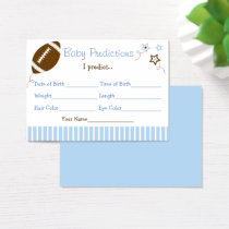 Football Predictions For Baby Game Business Card