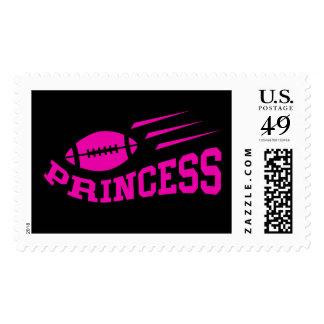 Football princess - pink print, girls or womens stamp