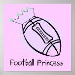 Football Princess T-shirts and Gifts Poster