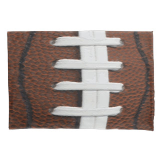 Football Print Pattern Background Pillow Case