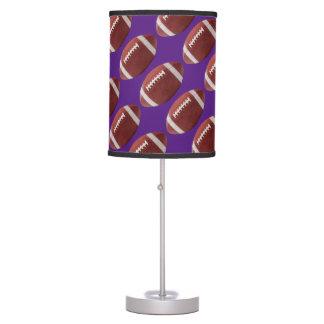 Football - Purple Table Lamp