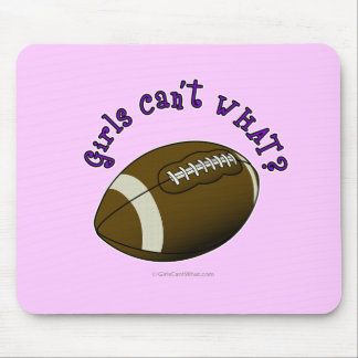 Football - Purple Text Mouse Pad
