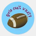 Football - Purple Text Round Sticker
