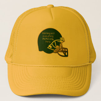 Football Quote in Green: Winning Is the Only Thing Trucker Hat