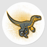 football raptor classic round sticker