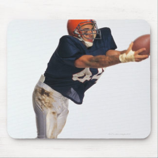 Football receiver catching ball 2 mouse pad