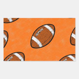 Football Rectangular Sticker