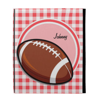 Football Red and White Gingham iPad Cases