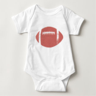 Football Red and Yellow Baby Bodysuit
