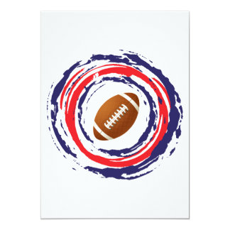 Football Red Blue And White Card