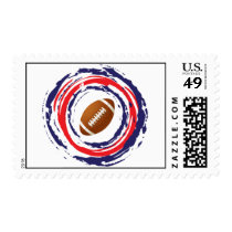 Football Red Blue And White Postage