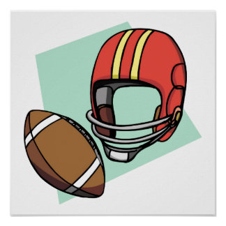 football red helmet poster