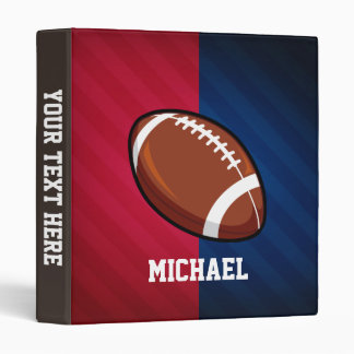 Football; Red, White, and Blue 3 Ring Binder