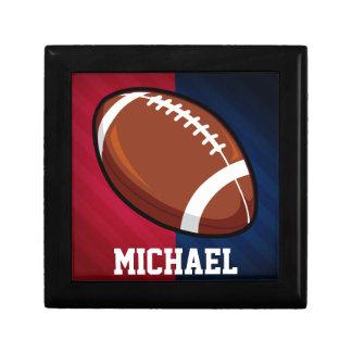 Football; Red, White, and Blue Keepsake Box
