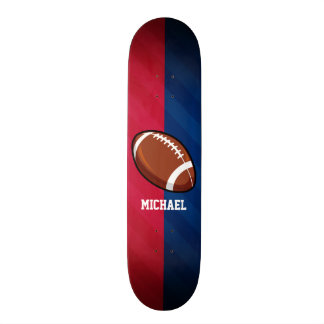 Football; Red, White, and Blue Skateboard Deck
