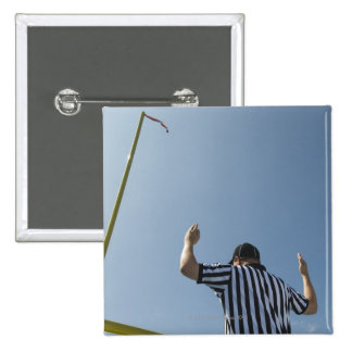 Football referee calling field goal button