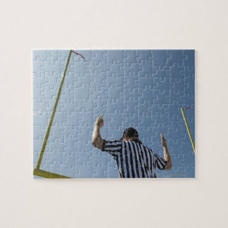Football referee calling field goal jigsaw puzzle