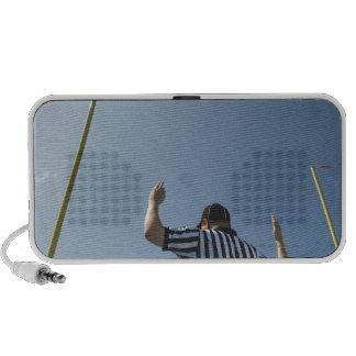 Football referee calling field goal portable speakers