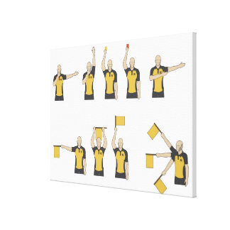 Football referees' signals canvas print