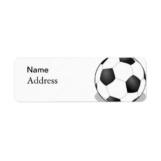 Football Return Address Label