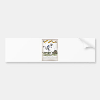football right wing blue kit bumper sticker
