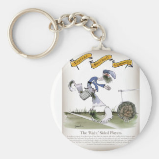 football right wing blue kit keychain