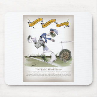 football right wing blue kit mouse pad