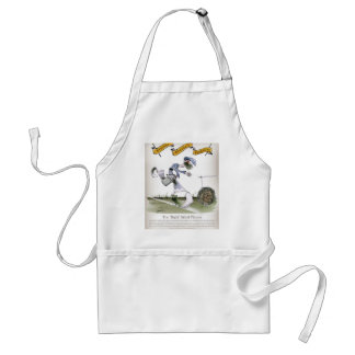 football right wing blue white kit adult apron