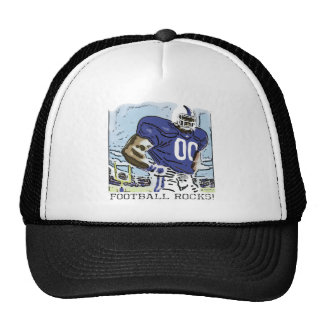 Football Rocks Blue Trucker Hat
