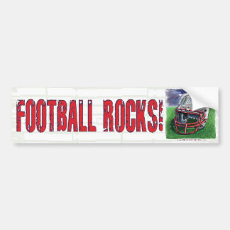 Football Rocks! Helmet Bumpersticker Bumper Stickers