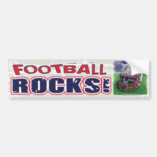 Football Rocks! Helmet Bumpersticker Bumper Sticker