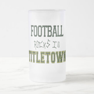 Football Rocks in Titletown1 16 Oz Frosted Glass Beer Mug