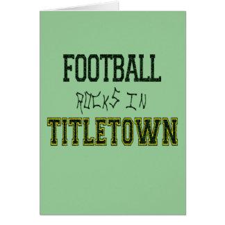 Football Rocks in Titletown1 Greeting Card