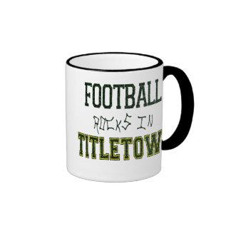 Football Rocks in Titletown1 Ringer Coffee Mug