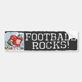 Football Rocks Red Car Bumper Sticker
