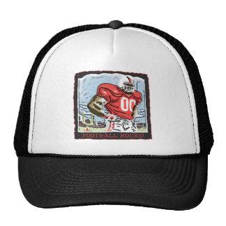 Football Rocks Red Trucker Hat