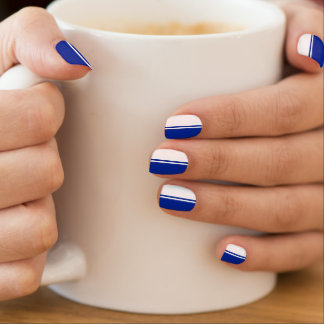 Football Royal Blue and White Minx ® Nail Art