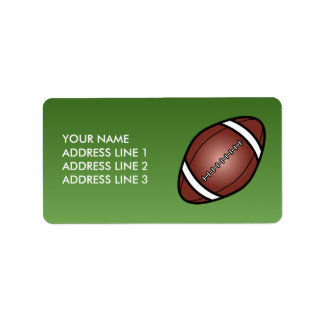 Football Rugby Ball Personalized Address Labels
