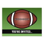 Football Rugby Birthday 5x7 Paper Invitation Card