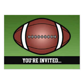 Football Rugby Birthday Invites