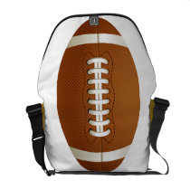 football rugby  sports messenger bag