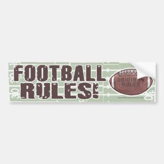Football Rules! Bumpersticker Car Bumper Sticker