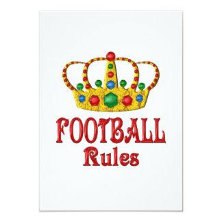 FOOTBALL RULES CARD