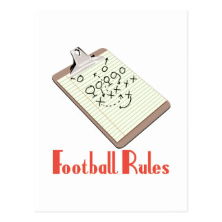 Football Rules Postcard