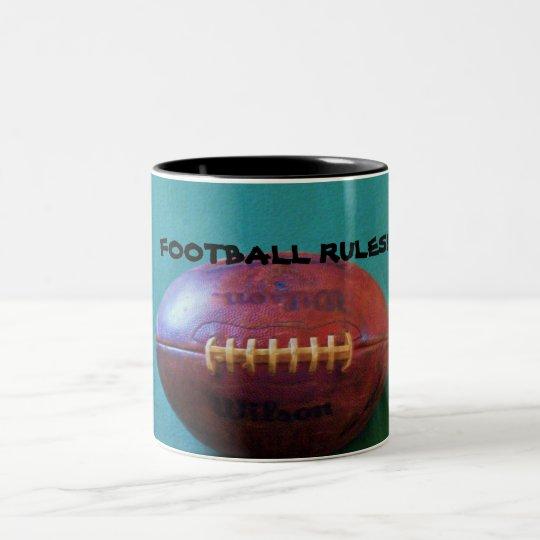 FOOTBALL RULES! Two-Tone COFFEE MUG