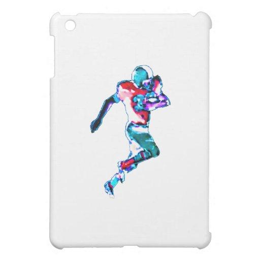 Football Runner Cyan Transp The MUSEUM Zazzle Gift iPad Mini Case